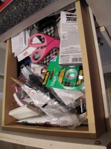 junk drawer, kitchen