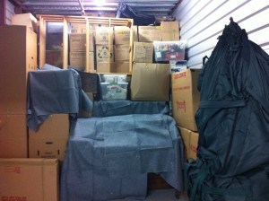 This is what a 10x20 storage unit looks like when it's 3/4 full. Yes, we fit a lot more in there. When we were done, you couldn't see the ceiling, the floor or the walls. It barely closed. It was one giant Jenga puzzle, just waiting for someone to pull the first piece.